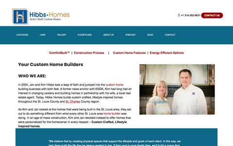 Screenshot of About Page hibbshomes.com - Custom Home Builders   St Louis, MO - captured Nov. 11, 2019