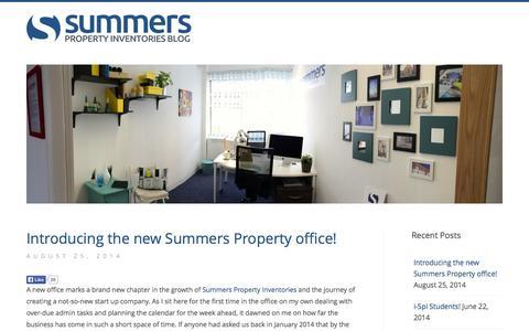 Screenshot of Blog summersproperty.com - Summers Property Inventories - Blog - captured Oct. 6, 2014