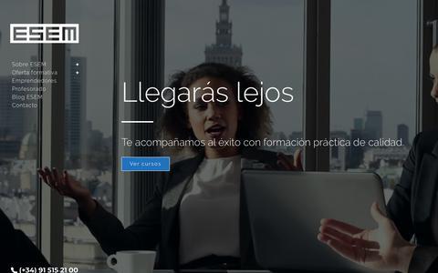 Screenshot of Home Page esem.es - Escuela de Marketing Madrid - ESEM Escuela de negocios - captured Sept. 26, 2018