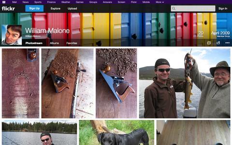 Screenshot of Flickr Page flickr.com - Flickr: William Malone's Photostream - captured Nov. 2, 2014