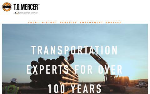 Screenshot of Home Page tgmercer.com - T.G. Mercer - captured Oct. 18, 2018