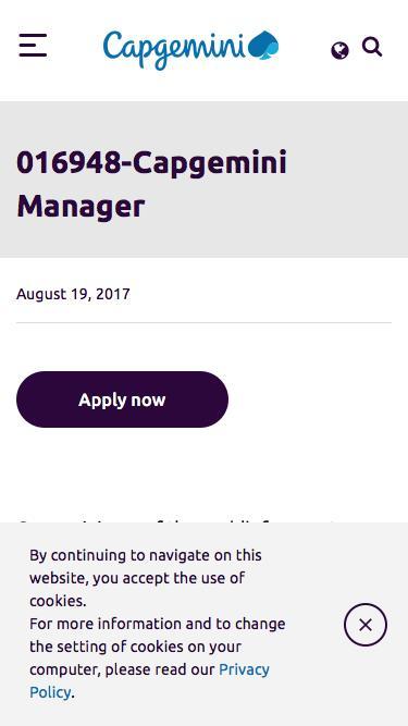 Screenshot of Jobs Page  capgemini.com - 016948-Capgemini Manager – Capgemini Canada