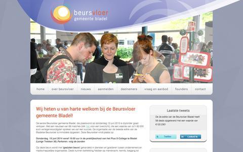 Screenshot of Home Page beursvloergemeentebladel.nl - Home  - Beursvloer gemeente Bladel - captured Sept. 30, 2014