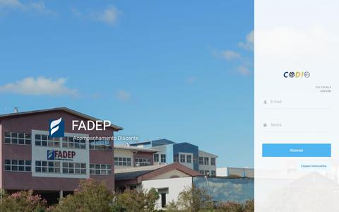 Screenshot of Login Page xn--codii-vra.com - FADEP - captured Oct. 10, 2018