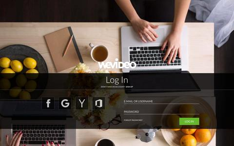 Screenshot of Login Page wevideo.com - Login - WeVideo - captured Oct. 20, 2015