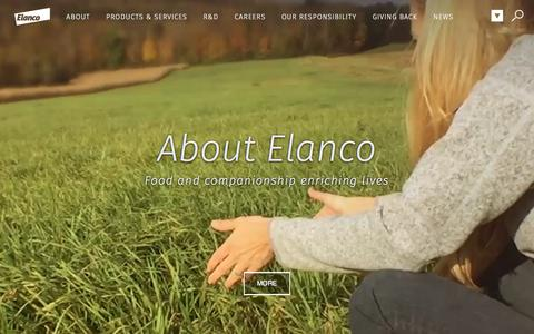 Screenshot of About Page elanco.com - About - captured July 17, 2018