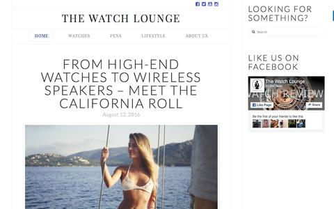 Screenshot of Home Page thewatchlounge.com - The Watch Lounge - The Luxury Watch Lover's Magazine - captured Aug. 16, 2016
