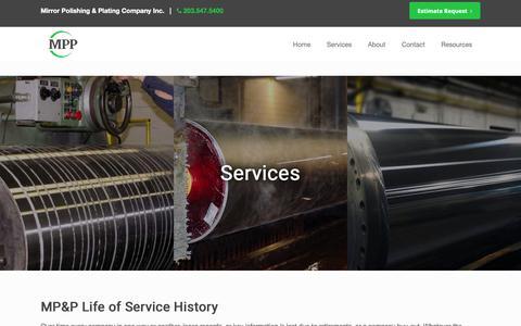 Screenshot of Services Page mpp.net - Services – MPP - captured Oct. 20, 2018