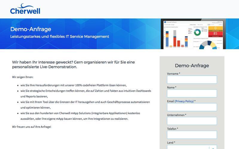 Demo-Anfrage | Cherwell Service Management
