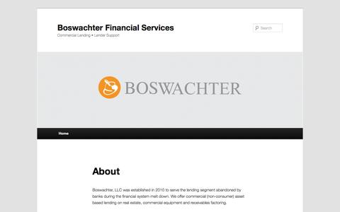 Screenshot of Home Page boswachter.com - Boswachter, LLC - Kansas City's hard money lender for real estate investors. - captured Oct. 5, 2014