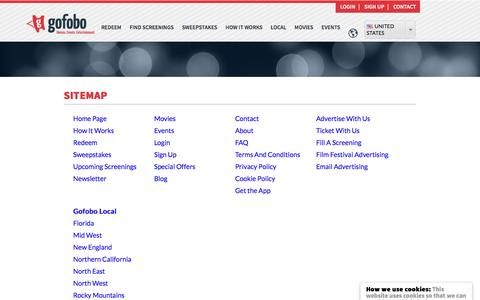Screenshot of Site Map Page gofobo.com - Sitemap - captured Aug. 22, 2016