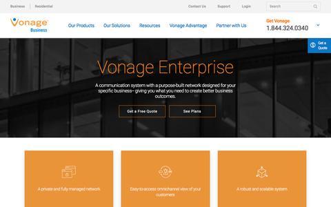 Enterprise Communications Solutions: Vonage Enterprise | Vonage Business | Vonage Business