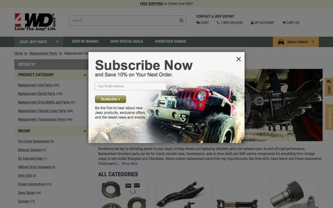 Jeep Replacement Drivetrain Parts | FREE Shipping at 4WD.com