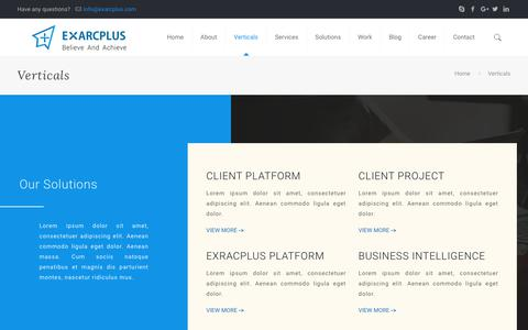 Verticals - Exarcplus Mobile Apps Pvt Ltd.
