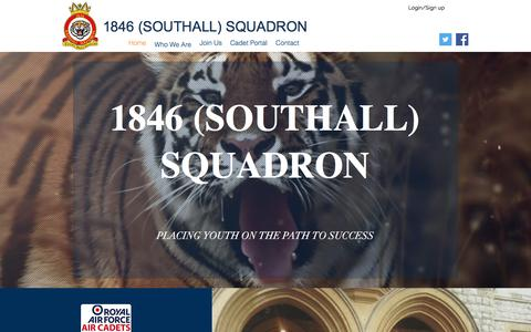 Screenshot of Home Page 1846southall.com - 1846 (Southall) Squadron - captured Feb. 24, 2018