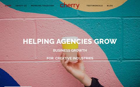 Screenshot of Home Page cherrybusinessconsulting.com - Cherry - captured Dec. 14, 2018