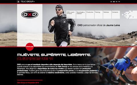Screenshot of Home Page telic.es - División deporte - Telic - captured Oct. 7, 2015