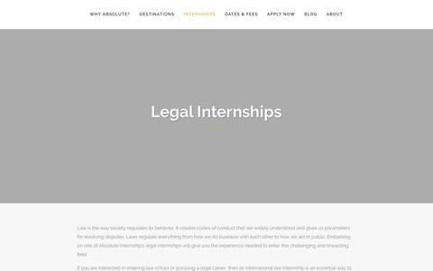 Screenshot of Terms Page absoluteinternship.com - Legal Internships - Absolute Internship - Live, Work, Explore - captured Aug. 26, 2018