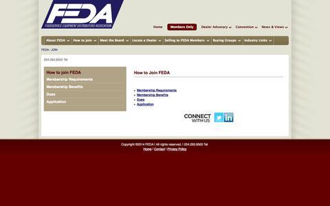 Screenshot of Signup Page feda.com - FEDA | How to join FEDA-- - captured Sept. 19, 2014
