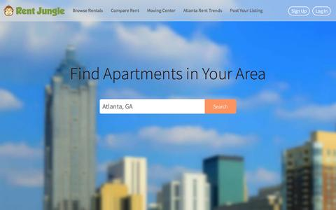 Screenshot of Home Page rentjungle.com - Rent Jungle - Apartment and Rental Search Engine With Millions of Apartments And Houses For Rent - captured Jan. 14, 2016