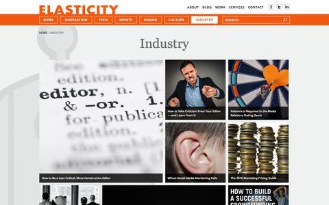 Screenshot of goelastic.com - Industry | Elasticity - captured March 20, 2016