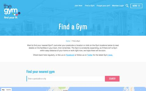Find A Gym | Gyms Near Me | The Gym Group