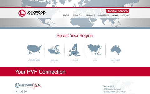 Screenshot of Locations Page lockwoodint.com - Select Your Region – Lockwood International - captured Aug. 29, 2017