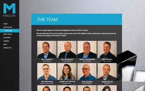 Screenshot of Team Page maclyngroup.com - The Team - Maclyn - captured Oct. 3, 2014