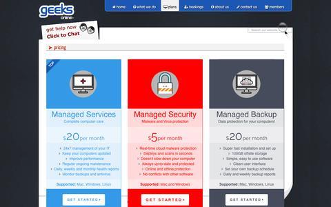 Screenshot of Signup Page geeksonline.com.au - plans - captured July 12, 2016