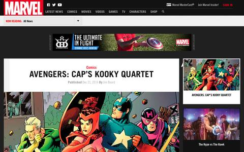Screenshot of Press Page marvel.com - News | Marvel.com - Marvel.com is the source for Marvel comics, digital comics, comic strips, and more featuring Iron Man, Spider-Man, Hulk, X-Men and all your favorite superheroes. - captured Dec. 22, 2016