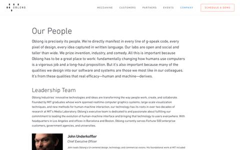 Our People - Oblong Industries