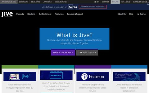 Collaboration Software Solutions by Jive Software