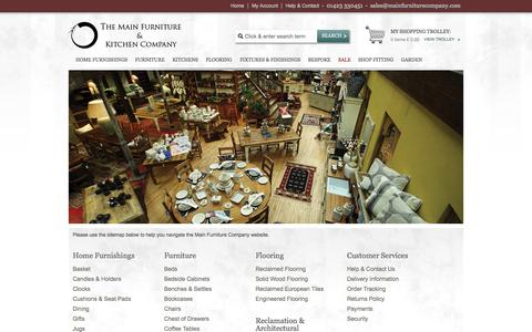 Screenshot of Site Map Page mainfurniturecompany.com - Site Map - Main Furniture Company - captured Oct. 9, 2014