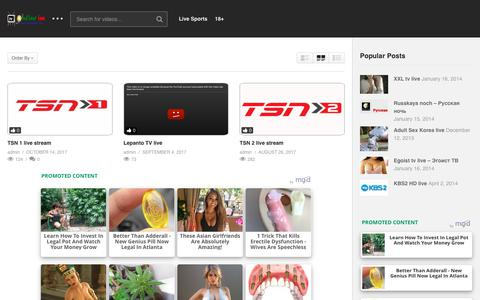 Screenshot of Home Page tv-online.im - tv-online - captured Oct. 26, 2017