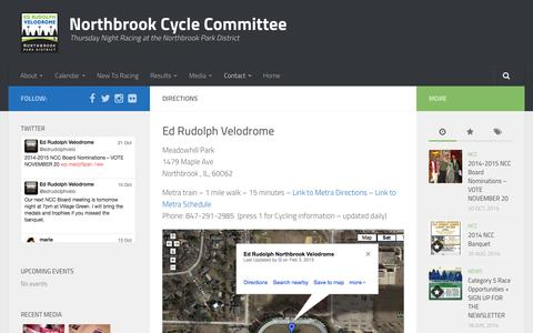 Screenshot of Maps & Directions Page northbrookcyclecommittee.org - Directions | Northbrook Cycle Committee - captured Oct. 26, 2014