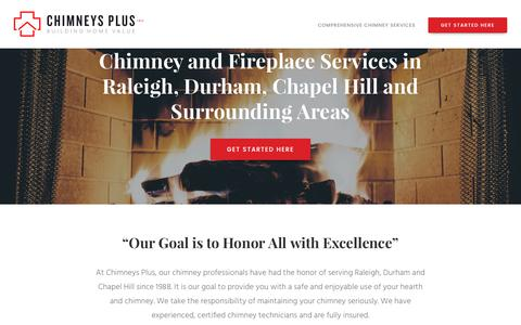 Screenshot of Press Page chimneysplusgutters.com - Quality Chimney & Fireplace Services in Raleigh, Durham and Chapel Hill - captured July 29, 2017