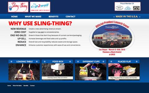 Screenshot of Home Page sling-thing.com - Sling Thing - captured Oct. 6, 2014