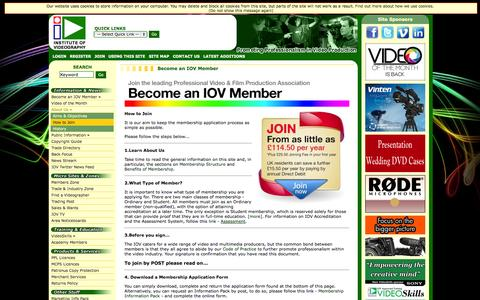 Screenshot of Signup Page iov.co.uk - IOV | Institute of Videography : Become an IOV Member - captured Oct. 27, 2014