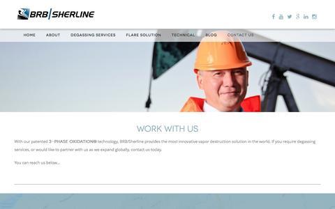 Screenshot of Contact Page brbsherline.com - BRB / Sherline - captured Feb. 7, 2016