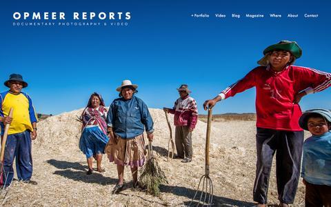 Screenshot of Home Page opmeerreports.nl - OPMEER REPORTS - captured Oct. 7, 2014