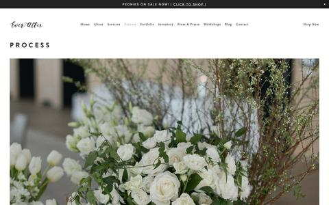 Screenshot of FAQ Page everafterfloraldesign.com - Blog - Ever After Floral Design - captured Oct. 21, 2018