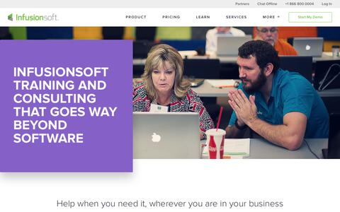 Screenshot of Services Page infusionsoft.com - Infusionsoft Training & Consulting | Infusionsoft - captured Dec. 16, 2017