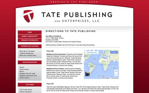 Screenshot of Maps & Directions Page tatepublishing.com - Directions to Tate Publishing | Tate Publishing - captured Jan. 10, 2016