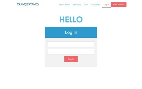 Screenshot of Login Page buyapowa.com - Login | Buyapowa - captured July 18, 2014