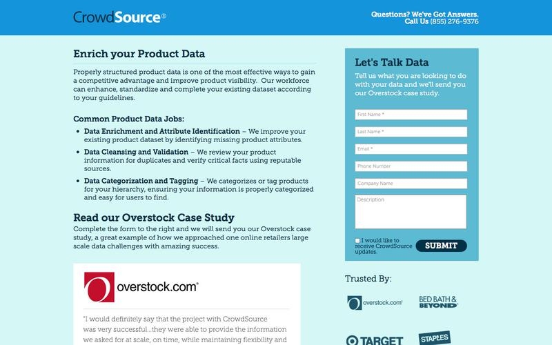 Product Data and Attribute Solutions at Scale | CrowdSource