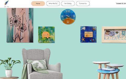 Screenshot of Home Page arts-more.com - custom made art | Arts & more | Beirut - captured Oct. 24, 2018
