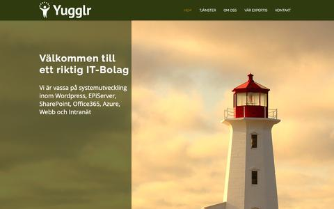 Screenshot of Home Page yugglr.com - Yugglr - captured Oct. 20, 2018