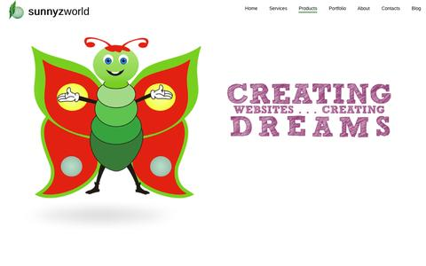 Screenshot of Products Page sunnyzworld.com - Special Website Packs for Profit | Pune | Kolhapur | Panaji | Goa - captured Oct. 8, 2014