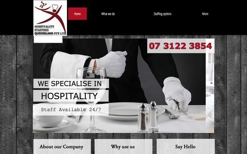 Screenshot of Home Page hsqld.com - HOSPITALITY STAFFING QUEENSLAND | BRISBANE TEMP AGENCY | CHEF COOK - captured Sept. 4, 2017