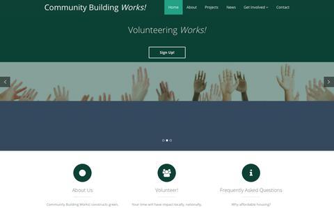 Screenshot of Home Page communitybuildingworks.org - CBW! - captured Sept. 30, 2014
